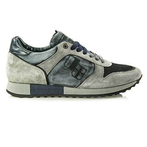 Grigio Sneaker E Nr44 In Tessuto Jesse Malawi D'acquasparta Pelle Made Italy IYW9EH2D
