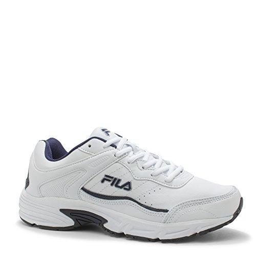 Fila Men's, Memory Sportland 4E Wide Width Athletic Sneakers White Navy 8.5 4E
