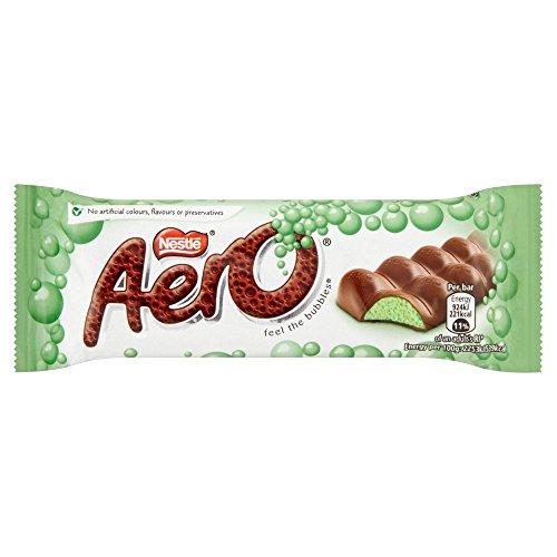 (Nestle Aero Bubbly Mint bar - 40g Pack of 12 (40g x 12 Bars) )