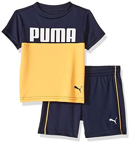 PUMA Baby Boys' T-Shirt & Short Set, Peacoat, 12 Months