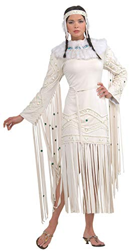 Static Electricity Halloween Costume (Rubie's Women's Grand Heritage Collection Deluxe Indian Maiden Costume, Off White,)
