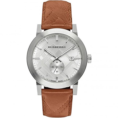 Burberry Men's Classic Round BU9904 Silver Leather Swiss Quartz Watch
