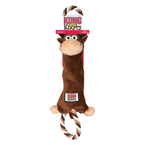 KONG Tugger Knots Moose Dog Toy, Medium/Large