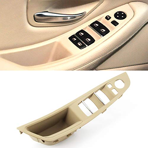 FEXON Driver Side Door Handle for BMW 5 Series,Window Switch Armrest Panel,Inner Pull Handle Trim Panel Cover for 2010-2016 BMW 5 Series 520 523 525 528 530 535 F10 F11 Beige