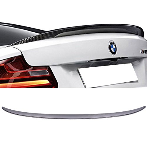 Trunk Spoiler Fits 2014-2018 BMW F22 2 Series | Performance Style Carbon Fiber (CF) Rear Tail Lip Deck Boot Wing Other Color Available By IKON MOTORSPORTS | 2015 2016 (F22 Boot)