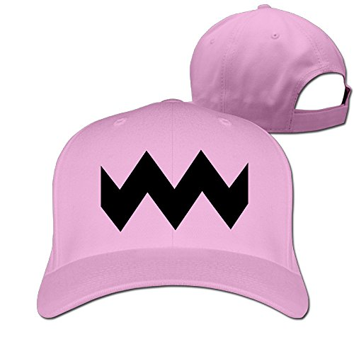 (GXGML Charlie Brown Wavy Lines Unisex Fashion Adjustable Pure 100% Cotton Peaked Cap Sports Washed Baseball Hunting Cap Cool Hat Pink)