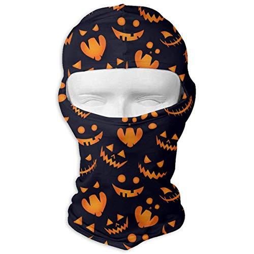 Cookisn balaclavas Neck Hood Full Face Mask Hat Sunscreen Windproof Breathable Quick Drying Halloween Pumpkin Background Men -