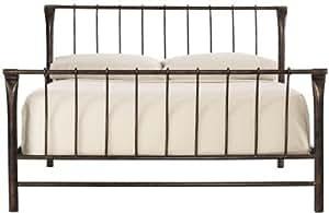 Marquette Bed, QUEEN, ANTIQUE BRASS