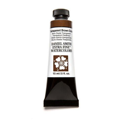 Daniel Smith Extra Fine Watercolor 15ml Paint Tube, Transparent Brown - Brown Transparent