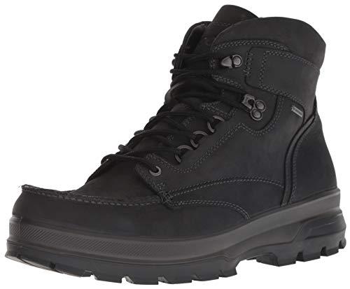 ECCO Men's Rugged Track Moc Toe High Gore-Tex Hiking Boot Black 43 M EU (9-9.5 US) ()
