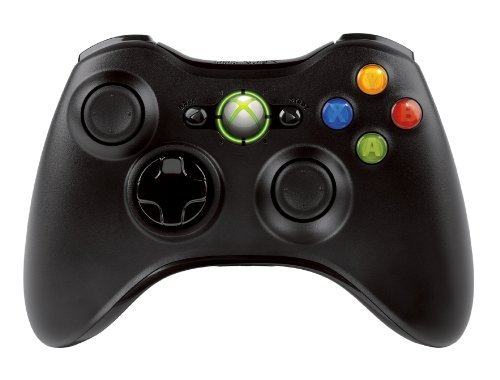 Microsoft Xbox 360 Wireless Controller, Black (Glowing 360 Xbox Controller)