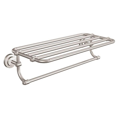 Iso Bathroom Towel Shelf, Brushed Nickel - Moen DN0794BN