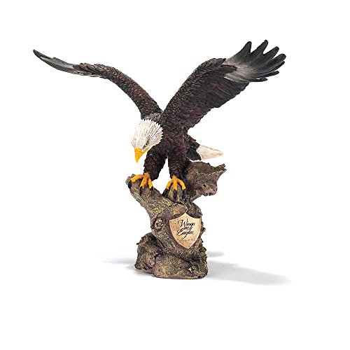 Dicksons Wings as Eagles Golden Shield Isaiah 40:31 Decorative 8 inch Bronze Finish Resin Stone Figurine