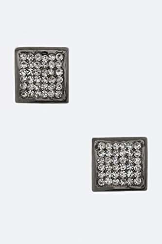 Karmas Canvas Square Crystal Stud Earrings