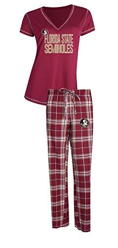 Concepts Sport Florida State Seminoles NCAA Duo Women's T-Shirt & Flannel Pajama Sleep Set