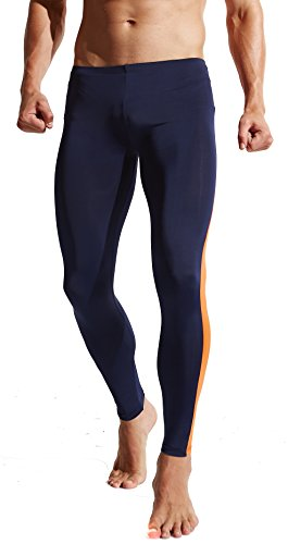Funycell Compression Pants Running Leggings Base Layer Tights Men Women Dark Blue L