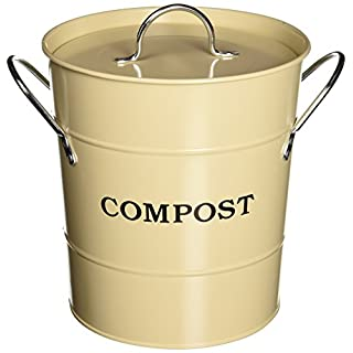 Exaco CPBS 01 1-Gallon 2-in-1 Indoor Compost Bucket, Oatmeal