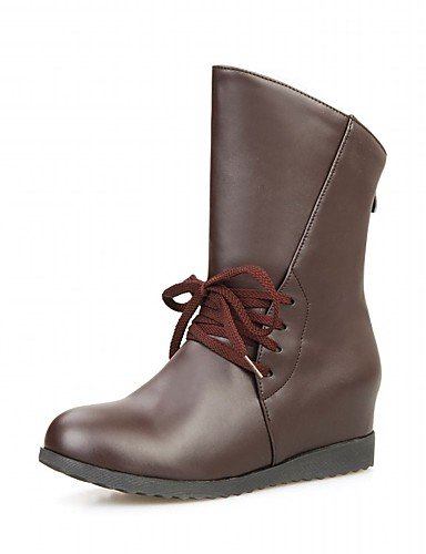 xzz/Damen Schuhe alle Match geschoben Absatz Fashion Stiefel/Schuhe Stiefel Casual Schwarz/Rot, black-us7.5 / eu38 / uk5.5 / cn38