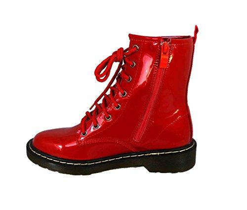 stivali donna 42 36 e punk lacci stile zip vintage Red Combat Anfibi hm001 numeri con da pa5Ow8