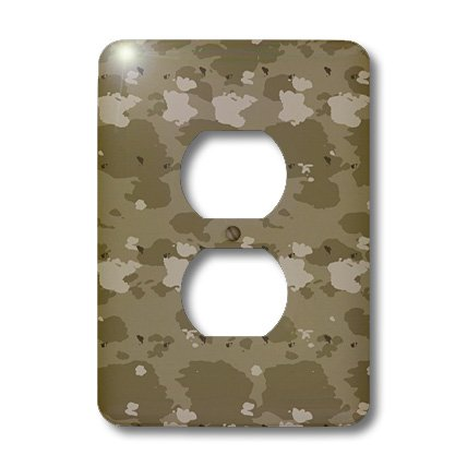 3dRose LLC lsp_36139_6 Desert Camouflage- Military- United States, 2 Plug Outlet Cover