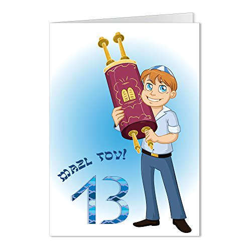 Mazel Tov on Your Bar Mitzvah sefer torah Scroll of the Law Congratulations Greeting Card - Mazel Tov Bar
