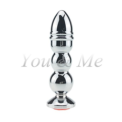Caroline Giron 2016 New Stainless Steel Metal Anal Beads Large Size Anal Butt Plug Adult Big Anal Dildo Sex Toy for Men Women Gay Sex Products