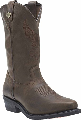 Harley-Davidson Mens Drayton 11.25-Inch Black or Brown Motorcycle Boots. D96093 Brown A6JfYwp