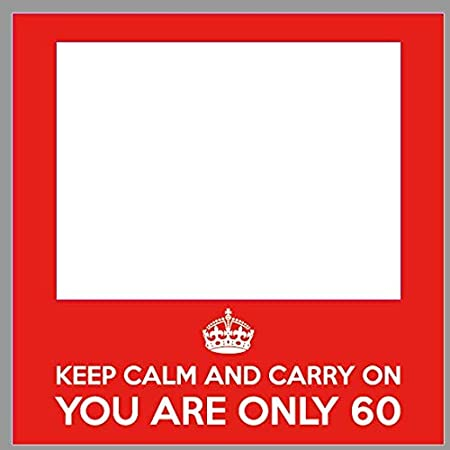 Photocall Cumpleaños Keep Calm 60 años Eventos Fiestas ...