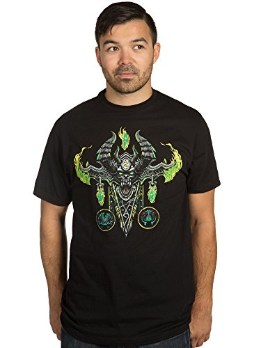 JINX World of Warcraft Men's Mythic Demon Hunter Class Premium Cotton T-Shirt