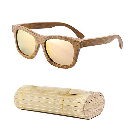Gafas de Las de de los de Caja con los Las Pink Sol Las Gafas Sol Dastrues Sol de de de de de bambú Gafas Gafas Hombres Hombres Madera de la Tw81q1