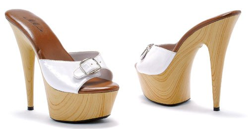 Ellie Shoes 609-BARBARA, Color White, Women's US Size 7/6