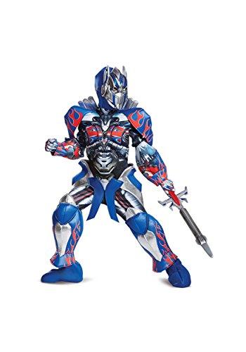 Disguise Optimus Prime Movie Prestige Costume, Blue, Medium (7-8) -