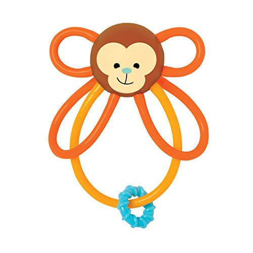 (Manhattan Toy Winkel Monkey Rattle & Sensory Teether)