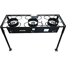 Acero Ware Professional Outdoor Propane Cooker – 3 pcs 54,000 BTU Cast Burner