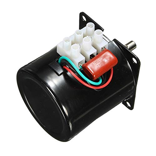 HUDITOOLS Quality | AC Motor | 220V 14W Permanent Magnetic Electric Synchronous Motor Gear 50Hz 15r/min 1 PCs
