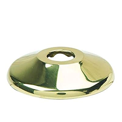 "BrassCraft 649 P 1/2"" Nominal (5/8"" O.D) Shallow Escutcheon for Copper Pipe in Polished Brass"