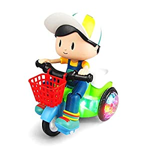 Stunt Cycle Toy for Kids With 4D Lights