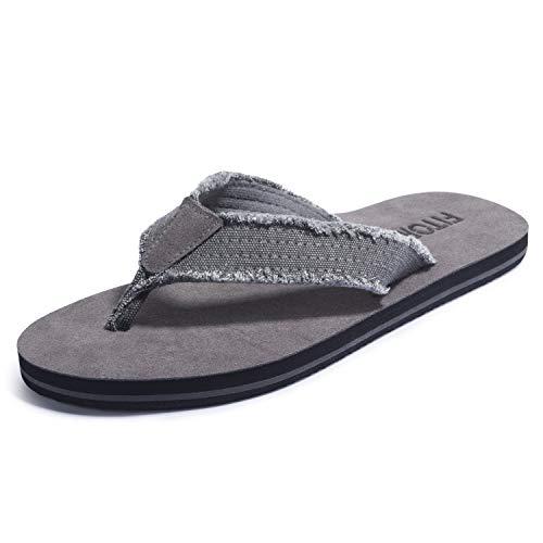 FITORY Men Flip Flops Fraid Thong Sandals Comfortable Beach Slippers