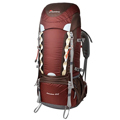 Amazon.com: Mountaintop 60L Internal Frame Backpack with Rain ...