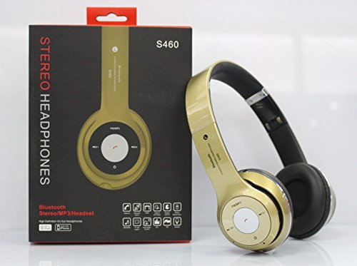 Amazon.com: S460 Wireless Bluetooth 3.0 Stereo Headphone Headset Earphone for Mobile Phone(gold): Home Audio & Theater