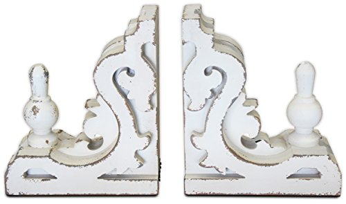 White Bookends or Sconces, Large ( Corbel, Shelf Brackets ) | by Urban Legacy