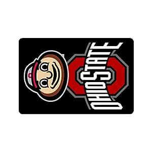 """Hayt la Ohio State Buckeyes Universidad Logo personalizado diseño novedoso interior y exterior para escaleras baño puerta frontal pequeña alfombra lavable a máquina neopreno de goma Felpudo 23.6""""(L) X 15,7(W)"""