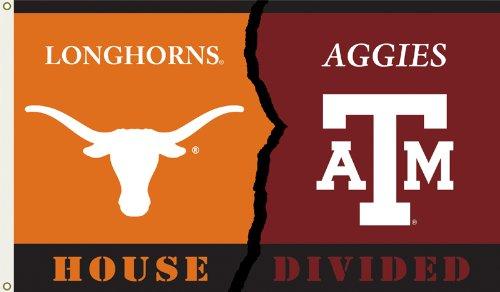 NCAA Double Sided Flag NCAA: Texas Longhorns-A&M Aggies