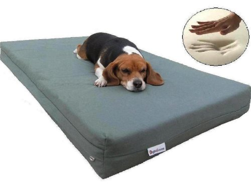 Extra Large Therapeutic Waterproof Memory Foam Dog Pet Bed 40″x35″X4″ with Durable Canvas Cover + Free Bonus Cover, My Pet Supplies