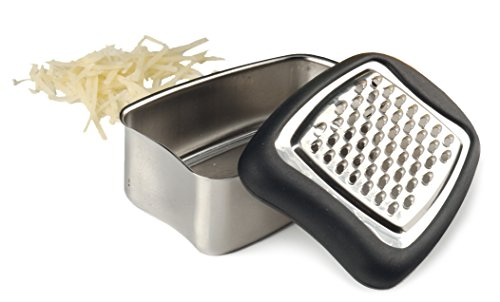 RSVP Endurance 18/8 Stainless Steel Mini Cheese Grater with Cushioned Edge ()