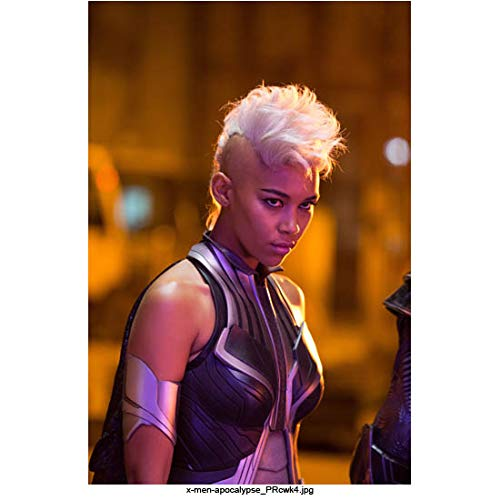 Alexandra Shipp 8 Inch x 10 Inch Photo X-Men: Apocalypse Love, Simon Straight Outta Compton Wearing Black Leather Chin Down Eyes Up kn