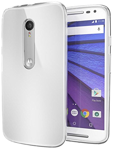 Motorola Moto G (3rd Generation) Case Cimo [Grip] Premium Slim TPU Flexible Soft Case for Motorola Moto G G3 (3rd Gen, 2015) - Frosted Clear