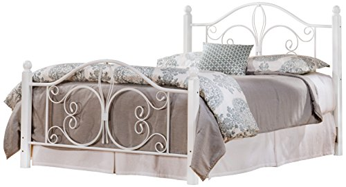 Hillsdale 1862BQRW Wood Post Bed with Frame, Queen, Textured White (And Iron Wood Beds)