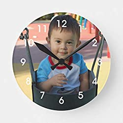 Personalized Photo Wooden Decorative Round Wall Clock