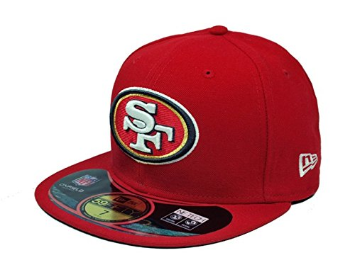 NFL San Francisco 49Ers On Field 5950 Game Cap, 49Ers Red, 7 1/2